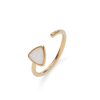 Wanderlust + Co Aurora Ring in Gold and Opal