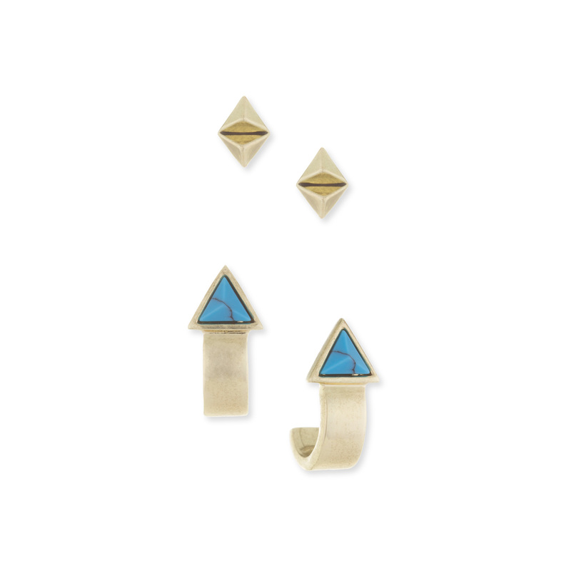 House of Harlow 1960 Telluride Earring Set in Turquoise