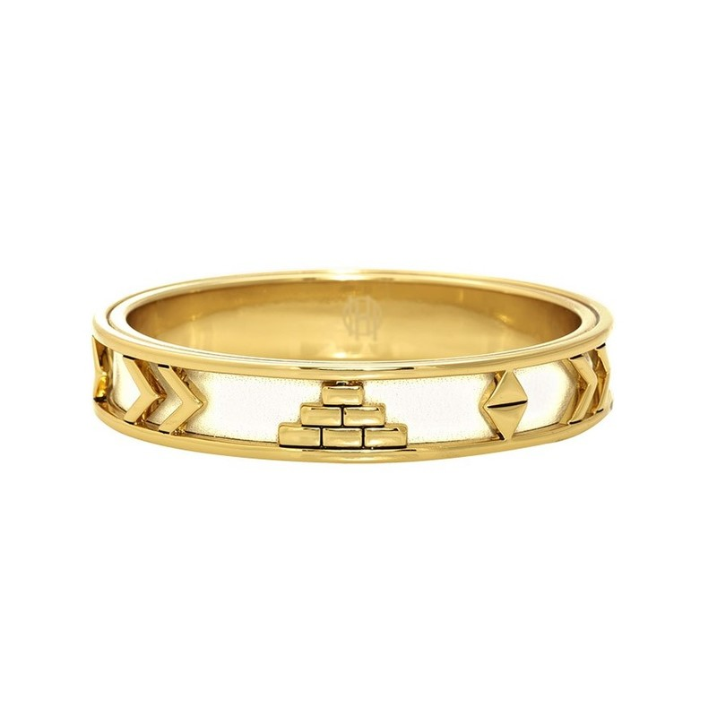 House of Harlow 1960 Aztec Bangle in White