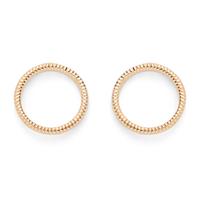 Jill Michael Ring Stud Earrings in Gold