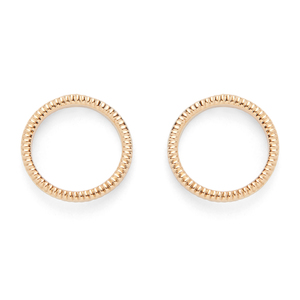 Jill Michael Ring Stud Earrings in Gold