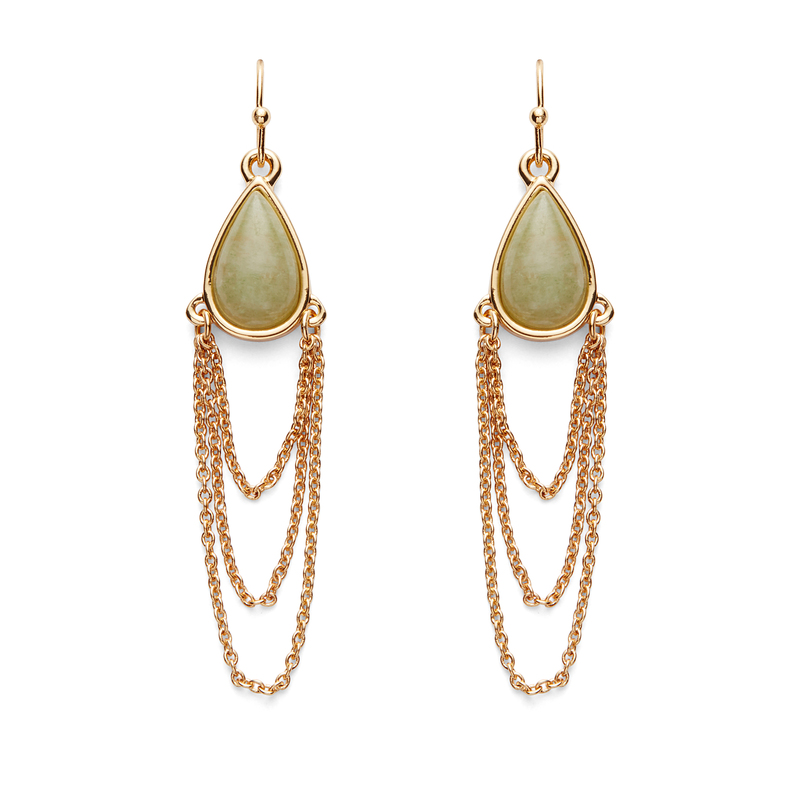 Jules Smith Candis Earrings in Jade