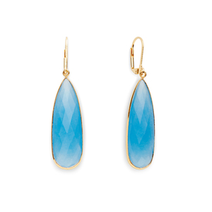 Olivia & Grace Lorena Earrings in Blue Quartz
