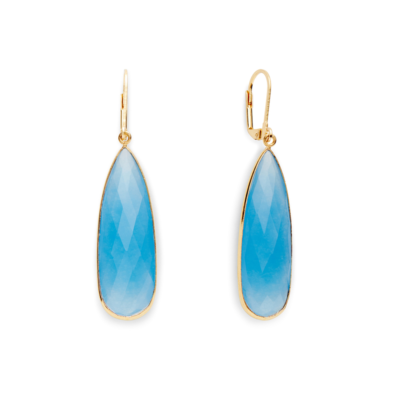 Olivia & Grace Lorena Earrings in Blue Quartz