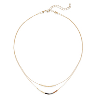 Jill Michael Beaded Layer Necklace in Gold