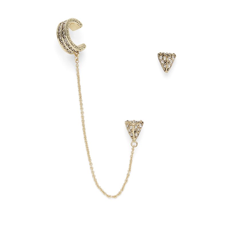 House of Harlow 1960 Adorned Ear Cuff Set
