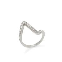 Sophie Harper Pavé Z Ring in Silver