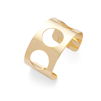 a.v. max Cutout Circle Cuff in Gold