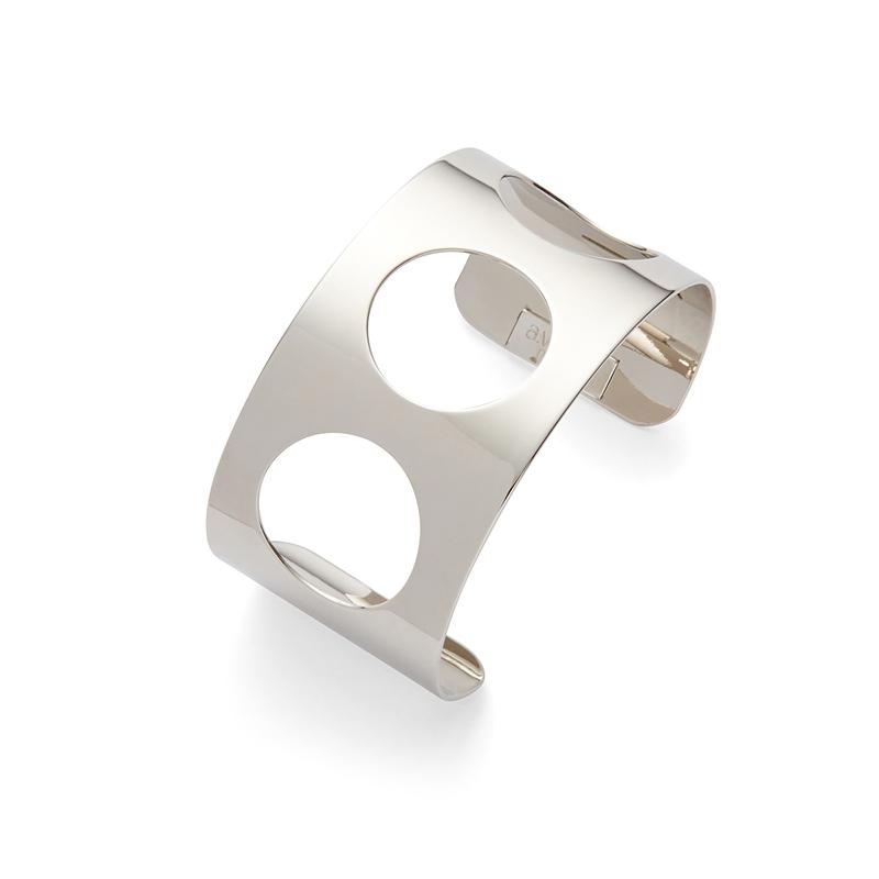 a.v. max Cutout Circle Cuff in Silver