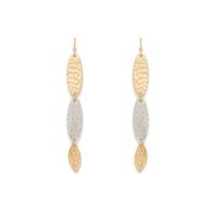 a.v. max Two Tone Organic Oval Earrings