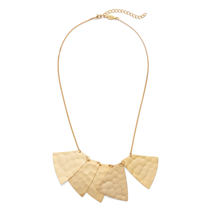 a.v. max Hammered Organic Necklace in Matte Antique Gold