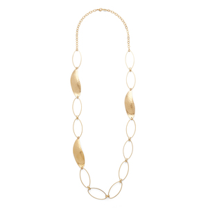 a.v. max Long Organic Leaf Necklace