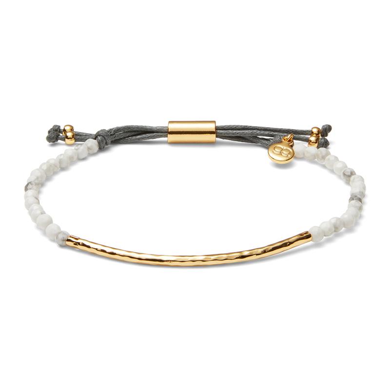 Gorjana Power Gemstone Bracelet in Gold and Howlite