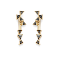 House of Harlow 1960 Astrea Ear Jacket in Gold and Hematite