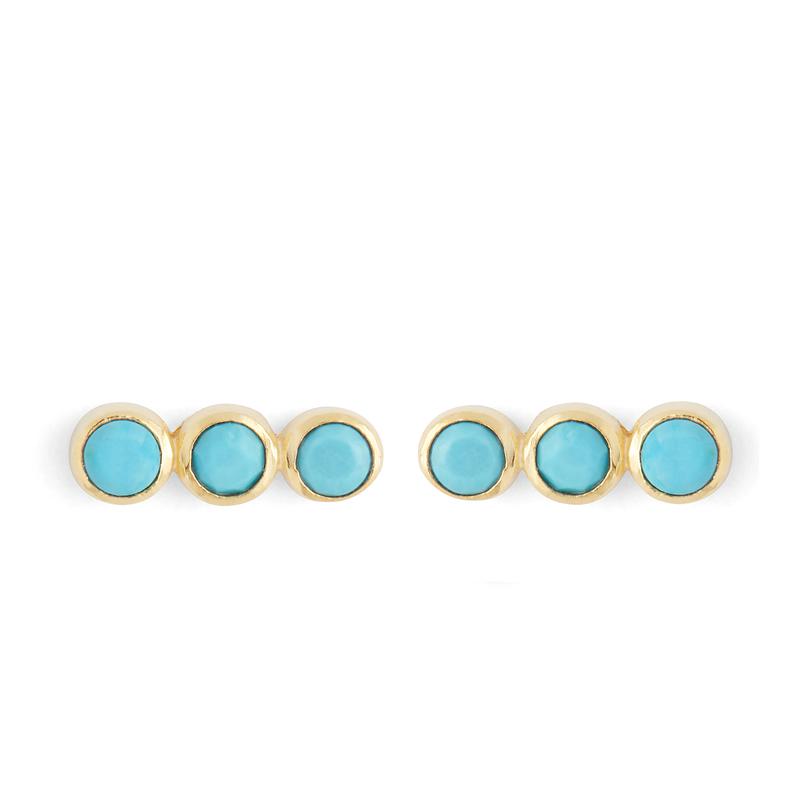 Karen London Creedence Studs in Turquoise