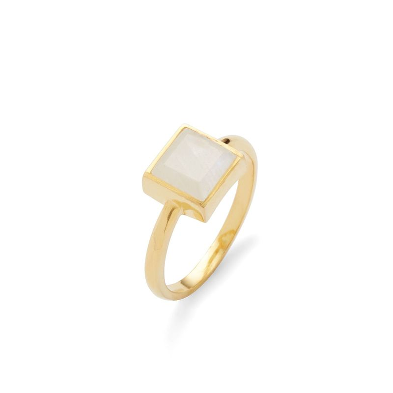 Karen London Sunshine Ring in Rainbow Moonstone