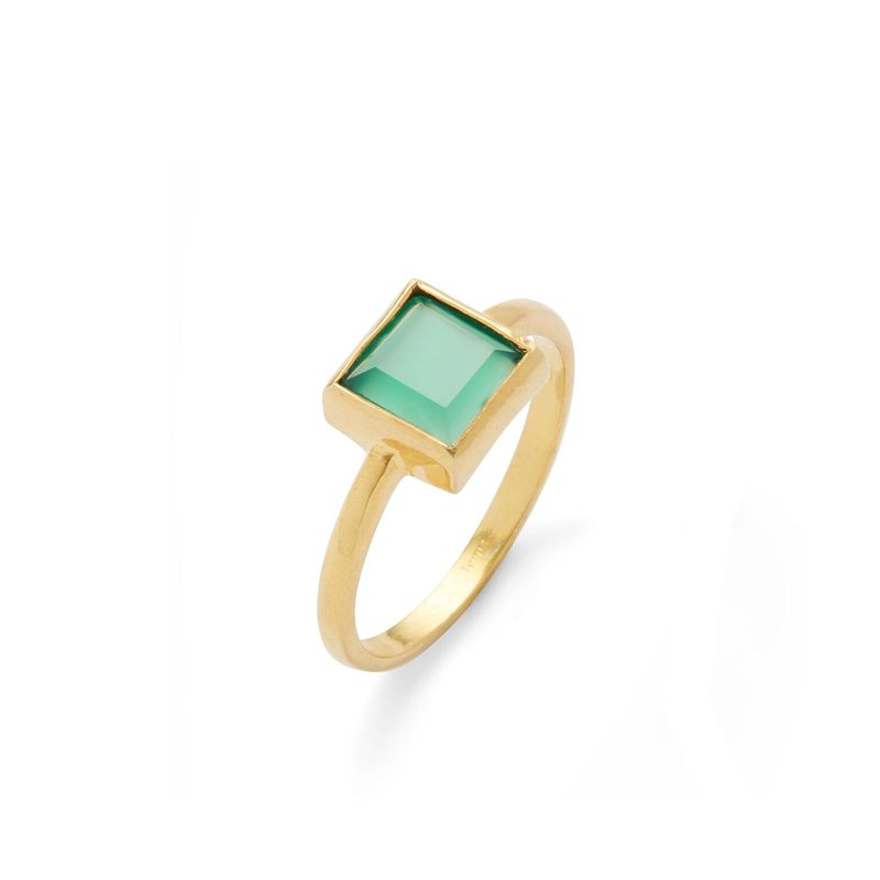 Karen London Sunshine Ring in Green Onyx