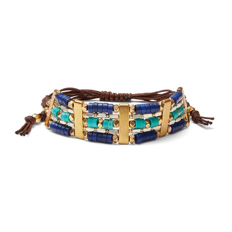 Nakamol Shades of Blue Beaded Bracelet