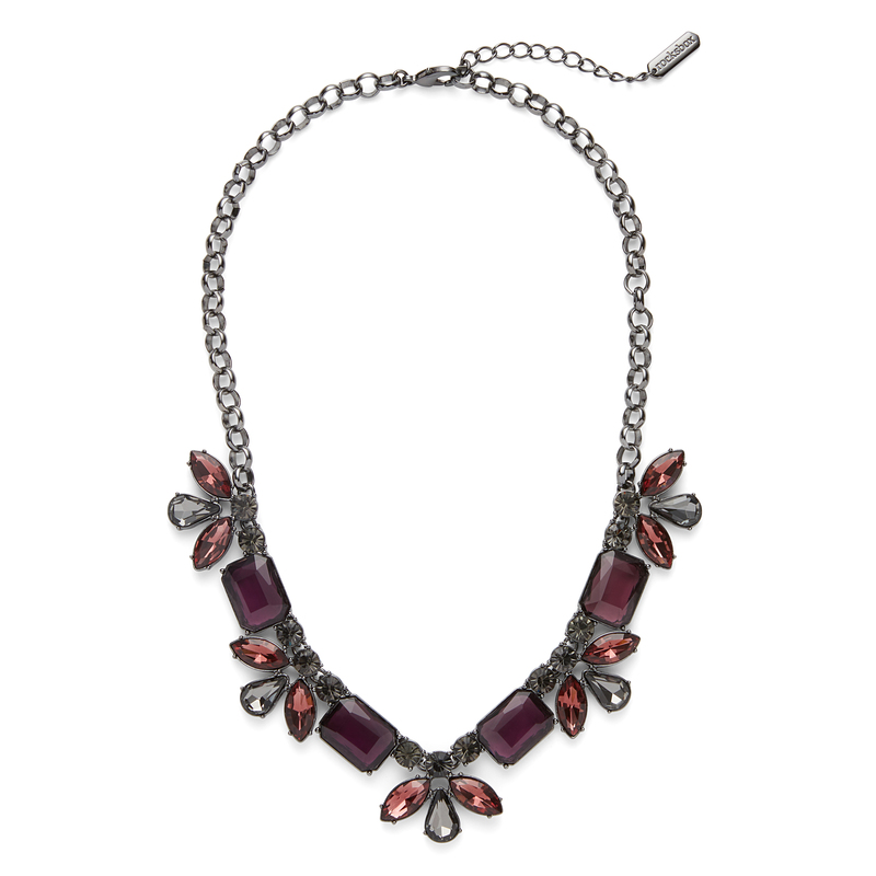 Perry Street Ciara Statement Necklace in Hematite