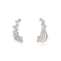 Rebecca Minkoff Crystal Ear Climber in Silver