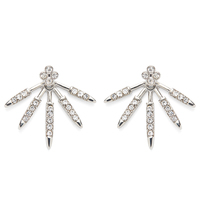 SLATE Pavé Burst Ear Jackets in Silver