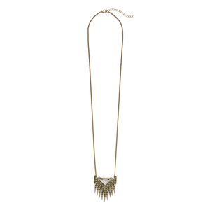 SLATE Etched Arrow Pendant Necklace