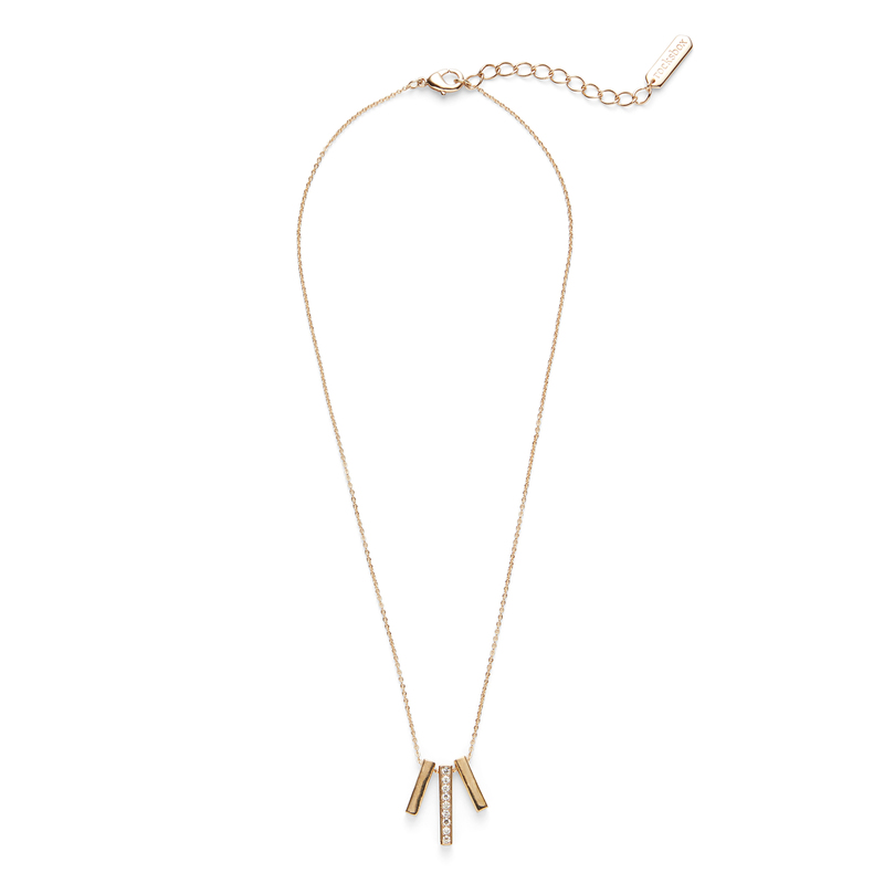Sophie Harper Pavé Bar Trio Necklace