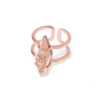 Kendra Scott Boyd Ring in Rose Gold Drusy
