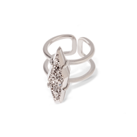 Kendra Scott Boyd Ring in Silver Platinum Drusy