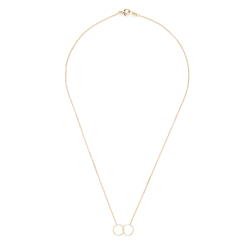 Jill Michael Gold Double Hammered Ring Necklace