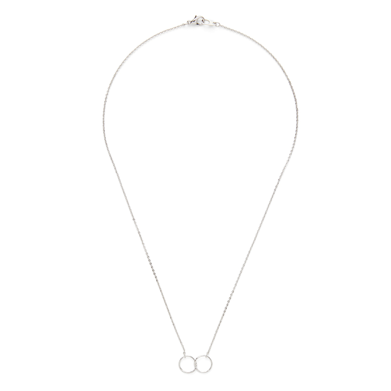 Jill Michael Silver Double Hammered Ring Necklace