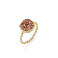 Elise M Sarafina Ring in Gold with Rose Druzy