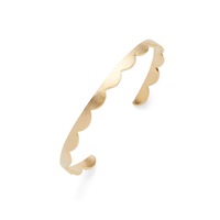 Jill Michael Gold Brushed Crown Cuff