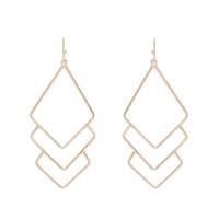 Jill Michael Metal Diamond Layer Earrings in Gold