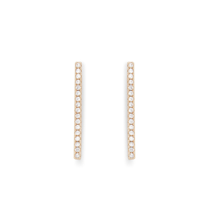 Jill Michael Gold Pave Bar Stud