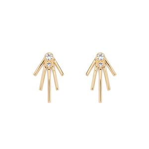 Jules Smith Jagger Jewel Studs in Gold