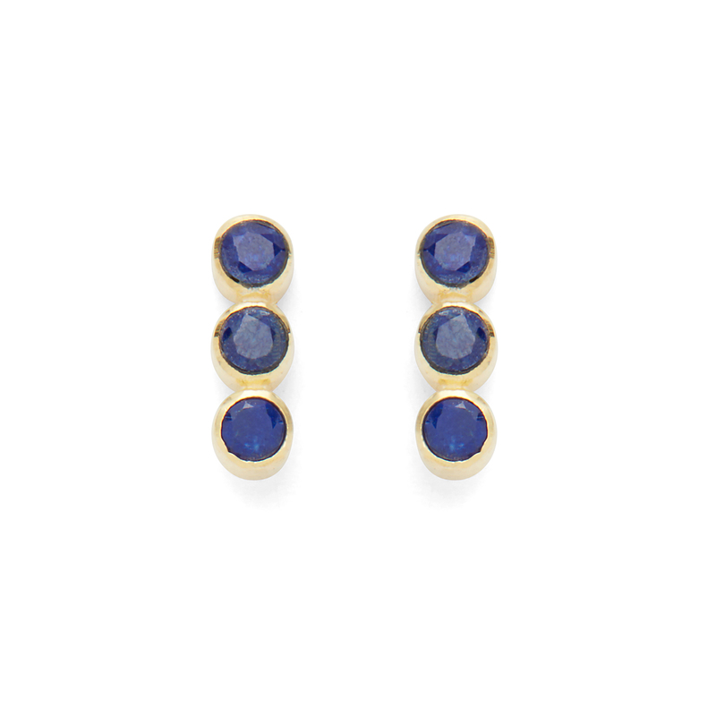 Karen London Creedence Studs in Lapis