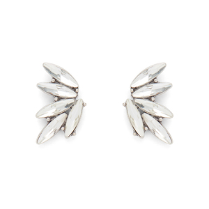 Perry Street Elyza Ear Climbers in Crystal