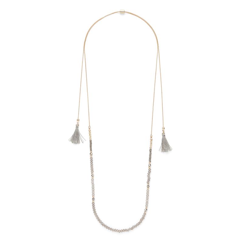 SLATE Adrienne Adjustable Beaded Necklace
