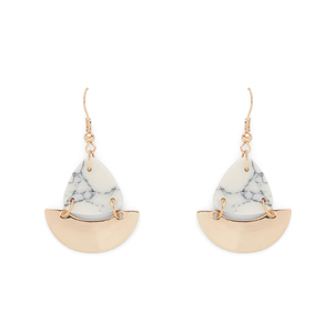 SLATE Howlite Drop Earrings