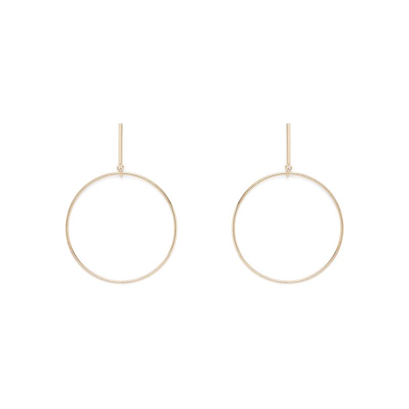 SLATE Chauné  Hoop Earrings