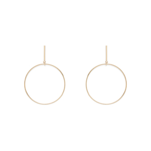 SLATE Chauné  Hoop Earrings