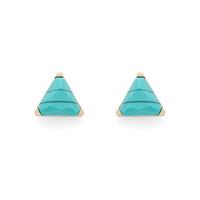 SLATE Turquoise Triangle Studs