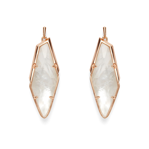 Kendra Scott Bexley Earrings in Rose Gold and Ivory Mother of Pearl