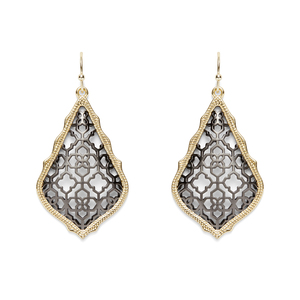 Kendra Scott Addie Earrings in Gold and Gunmetal