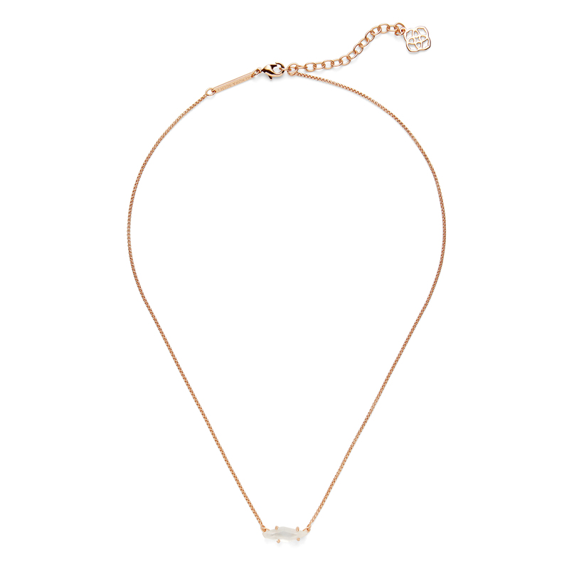 Kendra Scott Bridgete Necklace in Rose Gold and Ivory Mother of Pearl