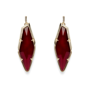 Kendra Scott Bexley Earrings in Burgundy Illusion