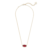 Kendra Scott Elisa Necklace in Burgundy Illusion
