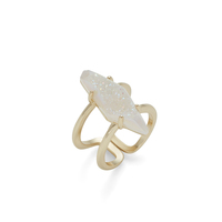 Kendra Scott Boyd Ring in Gold and Iridescent Drusy