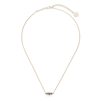 Kendra Scott Bridgete Necklace in Gold and Navy Crackle Illusion